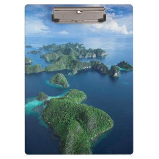 インドネシア、西のパプア。 支配者Ampatのアンテナ クリップボード