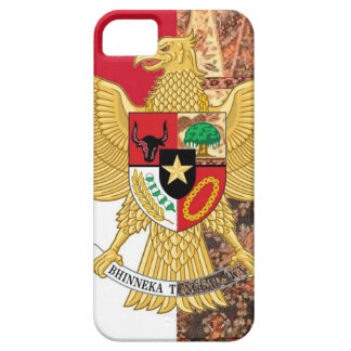 インドネシア- Garuda Pancasilaのろうけつ染めの旗の紋章 iPhone SE/5/5s ケース