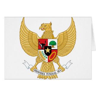 インドネシア、IDの紋章付き外衣 カード