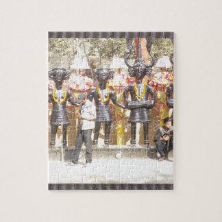 インドミュージシャンの芸術家の文化的なショーの彫像 ジグソーパズル