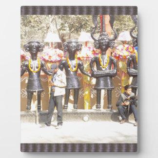 インドミュージシャンの芸術家の文化的なショーの彫像 フォトプラーク
