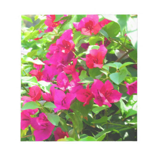 インド旅行花のブーゲンビリアの花柄の紋章 ノートパッド