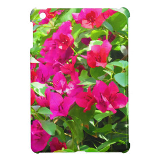 インド旅行花のブーゲンビリアの花柄の紋章 iPad MINIケース