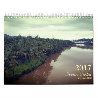 インド景色の2017のカレンダー カレンダー