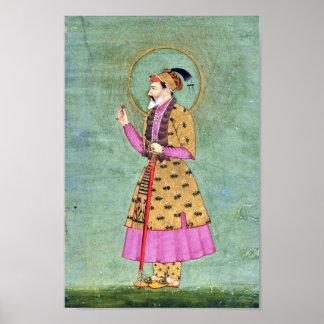 インド皇帝の絵画 ポスター