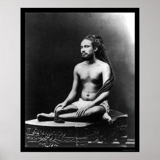 インド1898年の司祭のめい想 ポスター