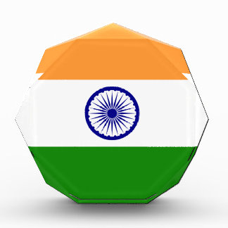 インド- तिरंगा -の旗भारतकाध्वज 表彰盾