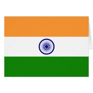 インド; インドの旗 カード