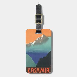 インド(カシミール)旅行ポスターカスタムな荷物のラベル ラゲッジタグ