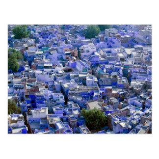 インド、ラージャスターン州、ジョドパーズ: ジョドパーズ青い市 ポストカード