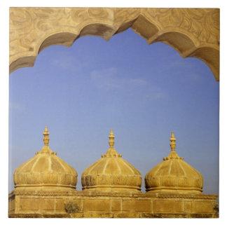 インド、ラージャスターン州、Jaisalmer。 砂岩ドーム タイル