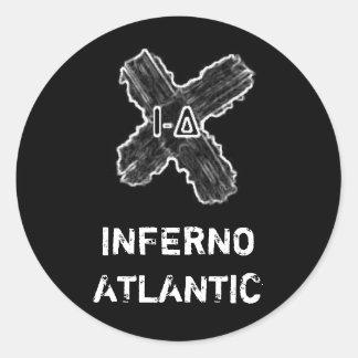 インフェルノの大西洋の十字のステッカー ラウンドシール