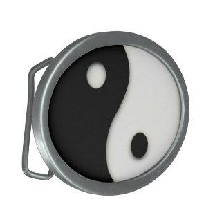 イン及びヤンの白黒カスタムな楕円形のベルトの留め金 卵形バックル