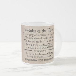 イン、18世紀な宿屋の主人の印の規則 フロストグラスマグカップ