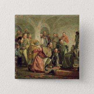 イヴァンの裁判所のOprichnina IV 5.1cm 正方形バッジ