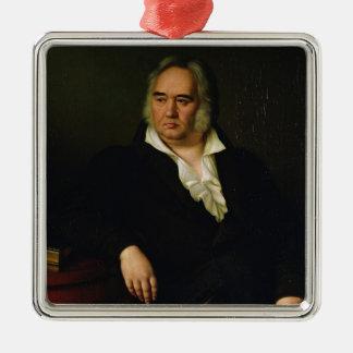 イヴァンA. Krylov 1832年のポートレート メタルオーナメント