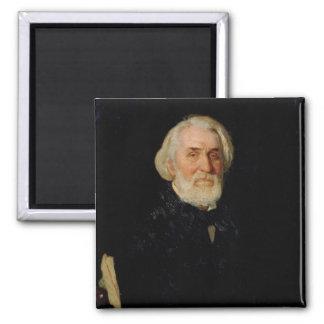 イヴァンS. Turgenev 1879年のポートレート マグネット
