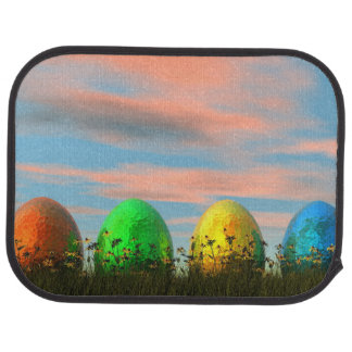 イースターのためのカラフルな卵- 3Dは描写します カーマット