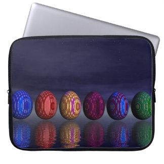 イースターのためのカラフルな卵- 3Dは描写します ラップトップスリーブ