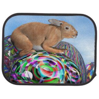 イースターのための多彩な卵のウサギ- 3Dは描写します カーマット