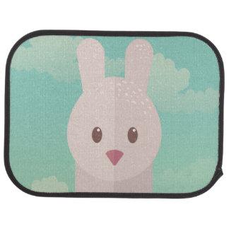 イースターのウサギのかわいい動物の養樹園の芸術の絵 カーマット