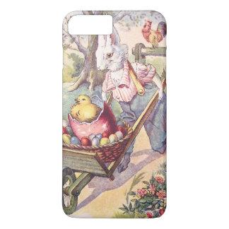 イースターのウサギのひよこによって着色される卵 iPhone 8 PLUS/7 PLUSケース