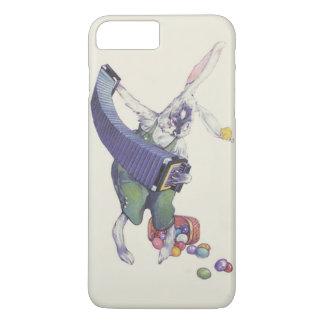 イースターのウサギのひよこのバスケットによって着色される卵 iPhone 8 PLUS/7 PLUSケース