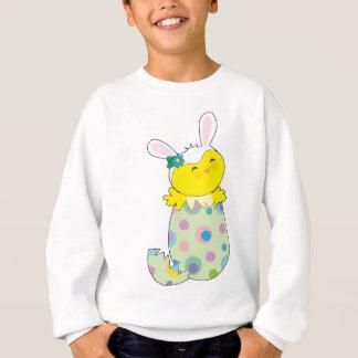 イースターのウサギのひよこ スウェットシャツ