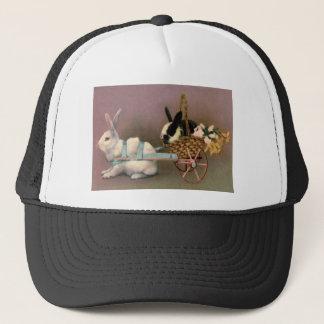 イースターのウサギのイースターバスケット花の花柄のカート キャップ