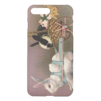 イースターのウサギのイースターバスケット花の花柄のカート iPhone 8 PLUS/7 PLUS ケース