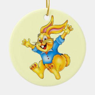 イースターのウサギのオーナメント セラミックオーナメント