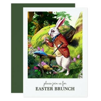 イースターのウサギのカスタムなイースターブランチの招待状 カード