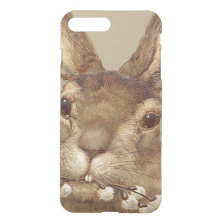イースターのウサギのネコヤナギの花柄 iPhone 8 PLUS/7 PLUS ケース