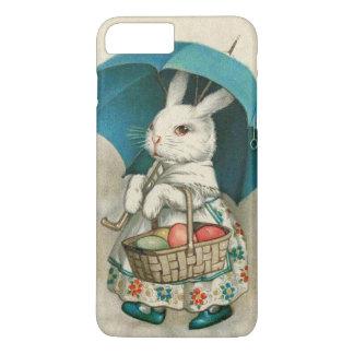 イースターのウサギのバスケットによって着色される卵の傘 iPhone 8 PLUS/7 PLUSケース