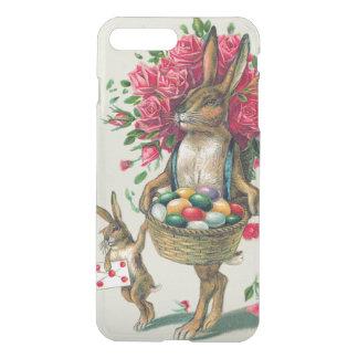 イースターのウサギのパパの子供のばら色のバスケットの卵 iPhone 8 PLUS/7 PLUS ケース