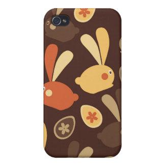 イースターのウサギのモダンなねじれのデザイン iPhone 4/4S CASE