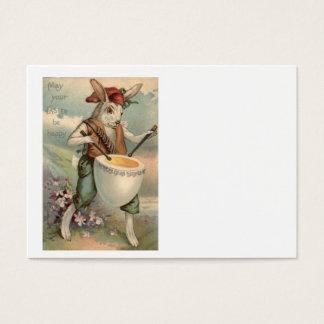 イースターのウサギの卵のドラムドラマーの花 名刺