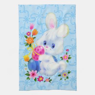 イースターのウサギの台所タオル キッチンタオル