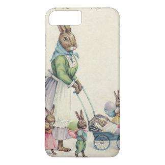 イースターのウサギの子供によって着色される卵 iPhone 8 PLUS/7 PLUSケース
