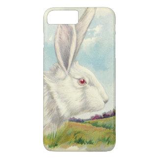 イースターのウサギの白い白子分野 iPhone 8 PLUS/7 PLUSケース