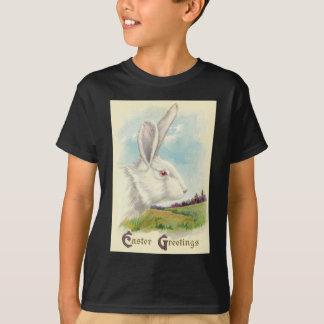 イースターのウサギの白い白子分野 Tシャツ