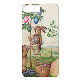 イースターのウサギの着色された卵の木 iPhone 8 PLUS/7 PLUSケース