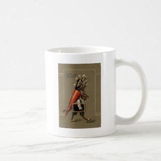 イースターのウサギの花 コーヒーマグカップ
