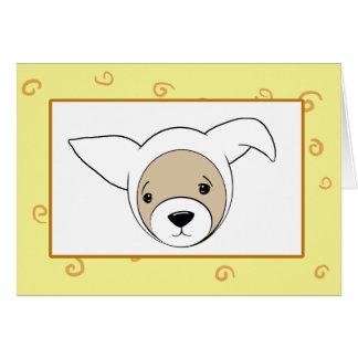 イースターのウサギの衣裳のフェレットの写真 カード