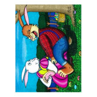 イースターのウサギの足のくすぐり ポストカード
