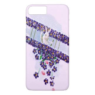 イースターのウサギの飛行機によって着色される卵 iPhone 8 PLUS/7 PLUSケース