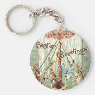 イースターのウサギのMaypoleのダンスのリボン キーホルダー