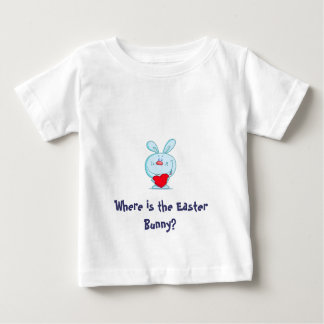 イースターのウサギはどこにありますか。 子供のTシャツ ベビーTシャツ