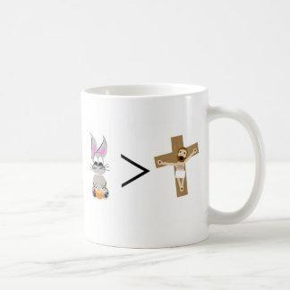 イースターのウサギはイエス・キリストより素晴らしいです コーヒーマグカップ