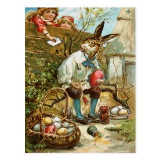 イースターのウサギへの手紙 ポストカード